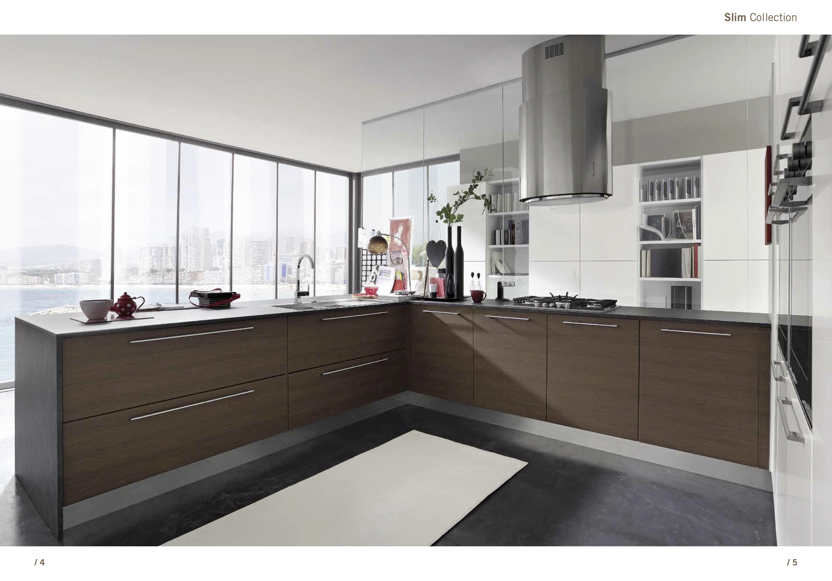 Contemporary gloss kitchen cabinets for Modern zion kitchen