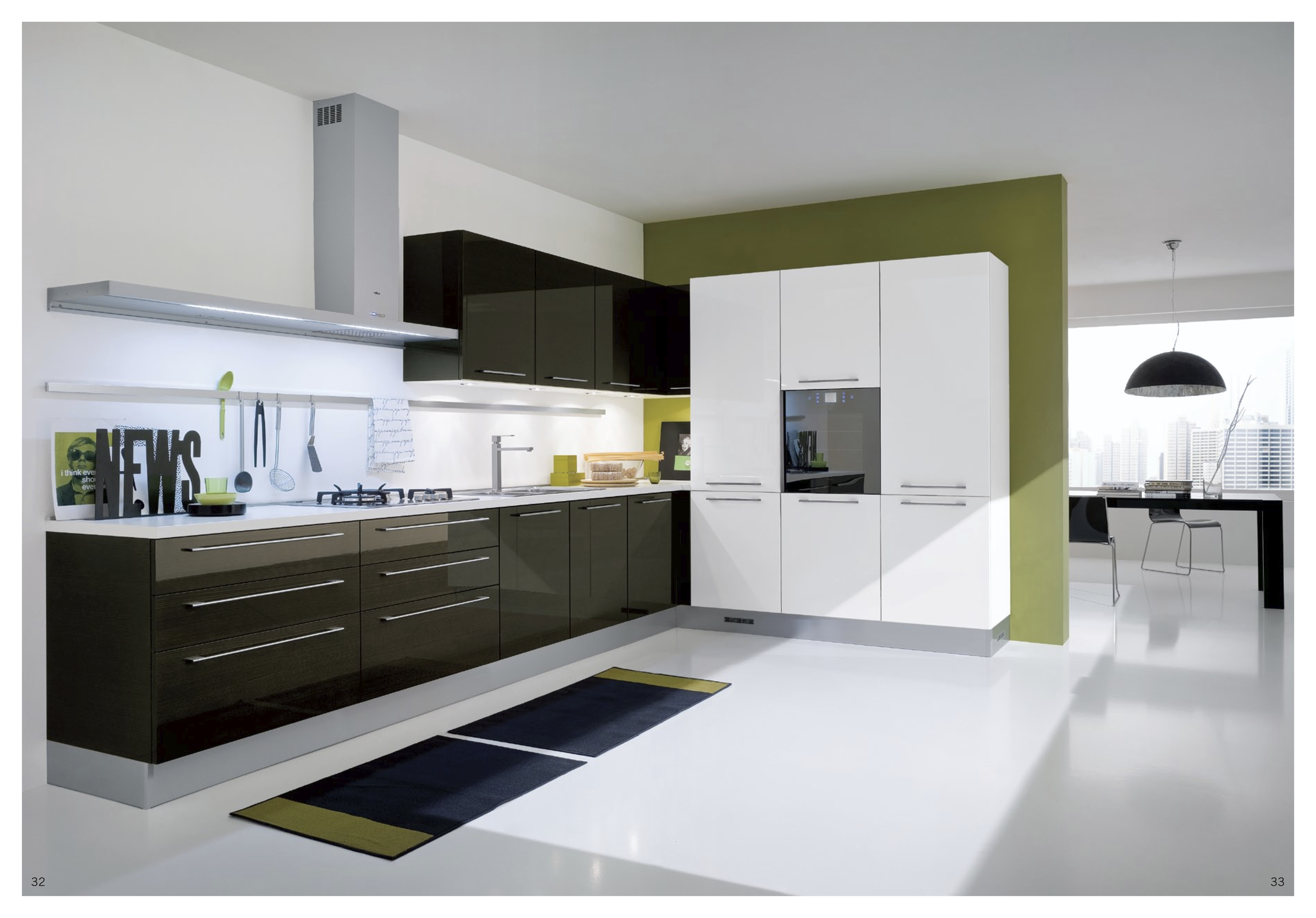 it is best to have overhanging lights or modern lamps for a modern modern kitchen - Modern Kitchen Design Ideas